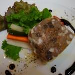 牛肉と豚肉のパテ